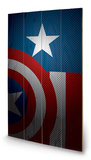 Avengers Assemble - Captain America Torso Wood Sign Wood Sign