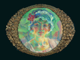 Portrait of Miss Mini Fanna Or Medaglione - Portrait of Mrs Mini Cragnolini-Fanna Photographic Print by Boccioni Umberto