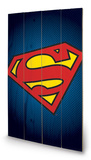DC Comics - Superman Symbol Wood Sign Träskylt