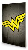 DC Comics - Wonder Woman Symbol Wood Sign Cartel de madera