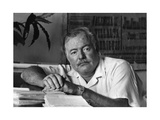 Ernest Hemingway in His Office Photographic Print