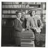 Arnoldo Mondadori, Alba De Cespedes and Taylor Caldwell Photographic Print