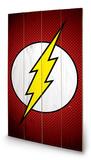 DC Comics - The Flash Symbol Wood Sign Dřevěná cedule