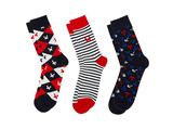 Minecraft Socks 3 Pack - Navy Shirt