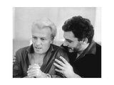 Giorgio Albertazzi and Gian Maria Volonté Rehearsing Transposition of 'The Idiot' of Dostoyevsky Photographic Print