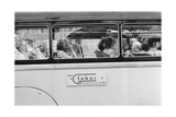 Foreign Tourists Seated in a Bus Photographic Print