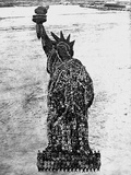 Soldiers Posing as the Statue of Liberty Photographic Print