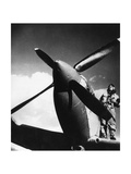 French Pilot on a Fighter Plane Photographic Print