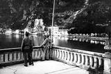 Austrian Officer Raking the Lake Garda Photographic Print