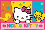 Hello Kitty Peek Posters
