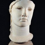 Head of Athena Carpegna, 1st Century, Marble Photographic Print by Unknown Artist