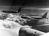 A B-52 of the United States Strategic Command Refuelled In-Flight by a KC 135 Aircraft Photographic Print