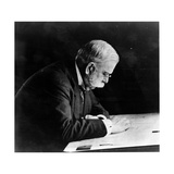 George Westinghouse Intent on Reading Photographic Print