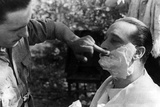 Maner Lualdi Getting a Shave Photographic Print
