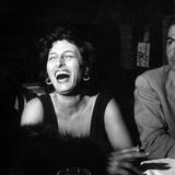 Anna Magnani Sitting Next to James Mason Photographic Print