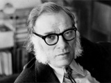Portrait of Isaac Asimov Papier Photo