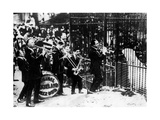 Jazz Band Playing Outside a Zoo Cage Photographic Print
