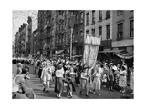 Procession in Little Italy Photographic Print