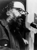 Allen Ginsberg Speaking into the Microphone Photographic Print
