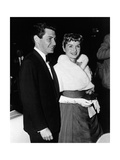 Eddie Fisher and Debbie Reynolds Smiling in Evening Dress Photographic Print