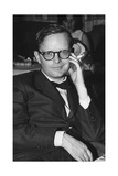 Truman Capote Sitting in the Restaurant of the M-S Vulcania Lámina fotográfica