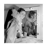 Gigliola Cinquetti Wearing a Stage Costume in the Dressing Room Photographic Print
