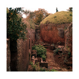 Etruscan Tumulus Graves Photographic Print