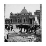 Carriages in Saint Peter's Square Photographic Print