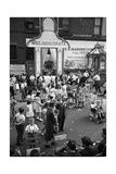 Group of People in Little Italy Photographic Print