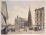 Saint Stephan Cathedral in Vienna Photographic Print by Rudolf von Alt