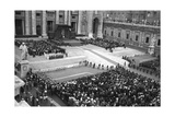 Pope John XXIII Receiving the Olympic Athletes in Saint Peter's Square Photographic Print