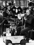 Federico Fellini on the Set Photographic Print