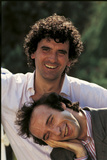 Portrait of Roberto Benigni and Massimo Troisi Smiling Photographic Print