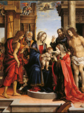 Mystical Marriage of St Catherine with Sts Paul Photographic Print by  Sebastian