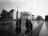 A Police Check in East Berlin Photographic Print