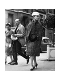 A Woman Wearing Christian Dior's Clothes Photographic Print