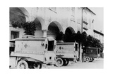 Ambulances of the American Red Cross Photographic Print