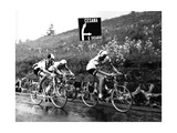 Italo Zilioli, Jacques Anquetil and Vittorio Adorni During a Race Photographic Print