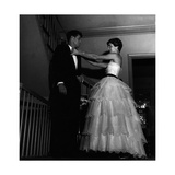 John Fitzgerald Kennedy and Jacqueline Kennedy Getting Ready for a Reception Photographic Print