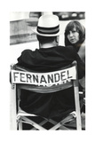 Fernandel Sitting, View From Behind. Photographic Print