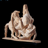 Group with Amazon and Barbarian, 138 - 192, 2nd Century, Marble Photographic Print by Unknown Artist