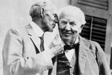 Henry Ford Talking to Thomas Edison Photographic Print