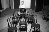 Curzio Malaparte Sitting Astride a Chair Photographic Print