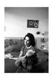 Giorgia Moll with a Teddy Bear Photographic Print