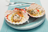 Scallops with Garlic and Parsley Photographic Print