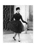 A Woman Wearin Christian Dior's Clothes Photographic Print