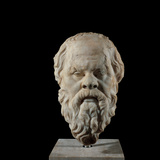 Head of Socrates, 2nd Century, Greek Marble, Full Relief Photographic Print by Unknown Artist