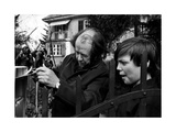 Aleksandr Solzhenitsyn with His Son Durind the Exile Photographic Print
