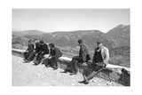 A Group of Sardinian Men of Barbagia Photographic Print