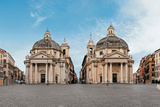 Churches of Santa Maria Regina Coeli in Montesanto Photographic Print by Fontana Carlo
